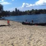 Städtischer Strand