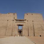 Pylone des Horus Tempel in Edfu