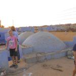 Auf einem nubischen Hausdach