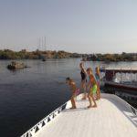 Schwimmen im Nil