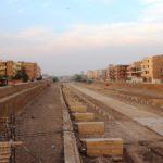 Spinxenallee in Luxor im Bau